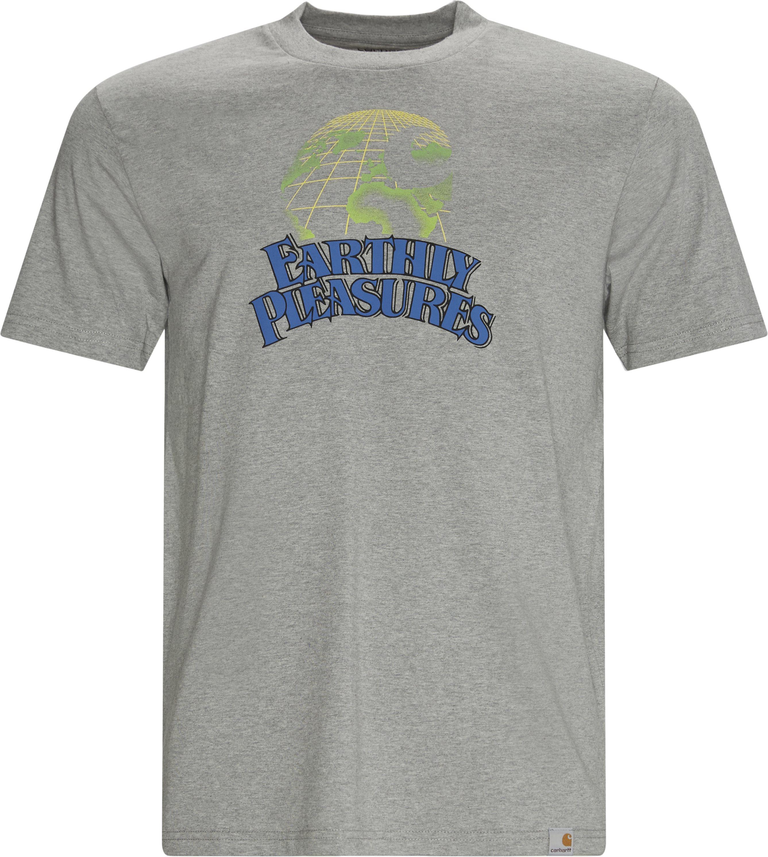 Earthly Pleasures Tee - T-shirts - Regular - Grey